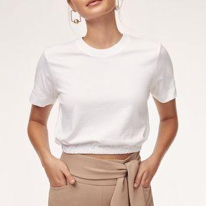 Aritzia Wilfred white Piaf Tshirt size Medium